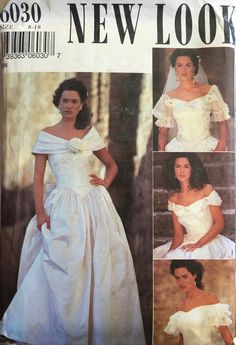 Cut Photo, Bridal And Formal, Handmade Beaded Jewelry, Pattern Cutting, Vintage Sewing Patterns, Vintage Accessories, 90s Fashion, New Look, One Shoulder Wedding Dress