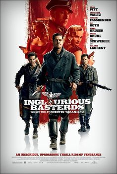Inglourious Basterds (2009) The opening scene was so intense! Almost all scenes with Hans Landa (Christoper Waltz) are so intense. He was very intimidating. And honestly, I like Shosanna's plot more than the basterds'