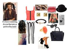 a day with harry <3 by irissalmeron on Polyvore featuring polyvore, fashion, style, Full Tilt, 7 For All Mankind, MICHAEL Michael Kors, Kenneth Jay Lane, Michael Kors, Luis Morais, Uniqlo, Ray-Ban and Lancôme