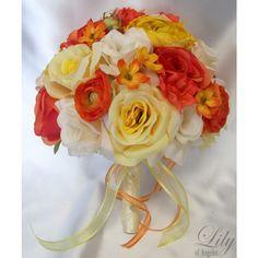 Orange/Yellow/Ivory