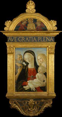 Madonna and Child with Saints Jerome and Mary Magdalen. Neroccio de' Landi (Italian, Siena 1447–1500 Siena) Date: ca. 1490
