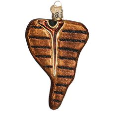 T-Bone Steak Christmas Ornament Old World Christmas 32185 - uniquely styled ornament....has grill marks on front and back! #trendytree #steak #oldworldchristmas