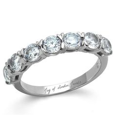 A Perfect 1.75TCW Solitaire Cut Russian Lab Diamond Ring Wedding Bands