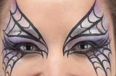 Spider mask face paint - Spider mask face paint step 4: to complete the spider's web - goodtoknow