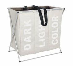 Wenko 3440113100 Wäschesammler Trio - 3 Wäsche-Kammern, Polyester, Aluminium, 63 x 57 x 38 cm, beige: Amazon.de: Küche & Haushalt