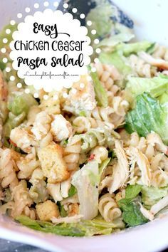 Blog post at Love, Laughter, Foreverafter : Super Easy Chicken Caesar Pasta Salad Recipe   Summer will be here before you know it! For work at home moms like me, that means I'll hav[..]