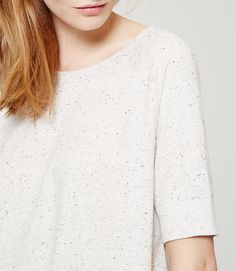 LOFT Flecked Swingy Sweatshirt Tee ∴ BLOG Não Me Mande Flores