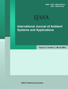 The International Journal of Ambient Systems and applications is a quarterly open access peer-reviewed journal that publishes articles which contribute new results in all areas of ambient Systems. The journal focuses on all technical and practical aspects of ambient Systems, networks, technologies and applications. http://airccse.org/journal/ijasa/index.html