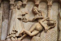 Catedral de Modena,relieve romanico. Italia