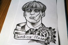 Tattoo sketch old school the working class