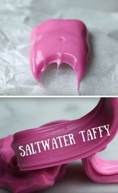 Saltwater Taffy Dessert Recipe - Chewy Candy - Ideas of Chewy Candy Homemade Taffy, Homemade Candies, Baking Recipes, Dessert Recipes, Desserts, Taffy Recipe, Yummy Treats, Sweet Treats, Home Made Candy