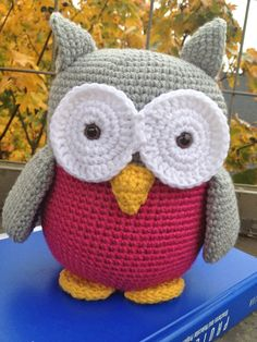 Crocheted Owl Stuffed Animal by WendyAnnBoutique on Etsy, $22.00