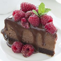 Make this chocolate raspberry cheesecake for that special occasion.  This creamy cheesecake with fresh fruit is sure to be a hit!. Chocolate Raspberry Cheesecake Recipe from Grandmothers Kitchen.