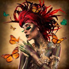 Cobra Art, Fantasy Art Women, Butterfly Wallpaper, Dark Photography, Foto Art, International Artist, Beauty Art, Erotic Art, African Art