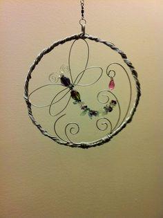 wire wrapped dragon | Wire Wrap Suncatchers. Dragon Fly and Swirls. by AuzoraDesigns, $35.95