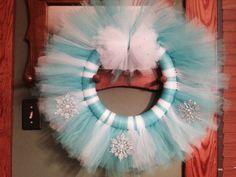 Tulle wreath frozen inspired
