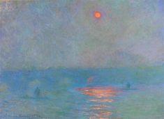 Waterloo Bridge, Sunlight in the Fog. Claude Monet, 1903.