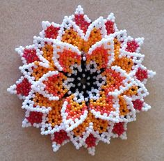 This Pin was discovered by Вар Seed Bead Jewelry, Bead Jewellery, Beaded Jewelry, Beaded Necklaces, Seed Bead Flowers, French Beaded Flowers, Beaded Flowers Patterns, Beading Patterns, Beaded Crafts