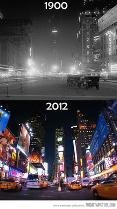 Times Square Before and After   NY Y C USA