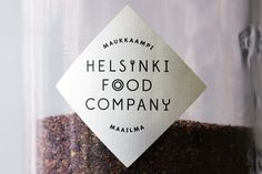 Creative Packaging, Helsinki, Food, Company, and Branding image ideas & inspiration on Designspiration Logo Design, Label Design, Design Agency, Identity Design, Brand Identity, Brand Design, Type Design, Visual Identity, Design Elements
