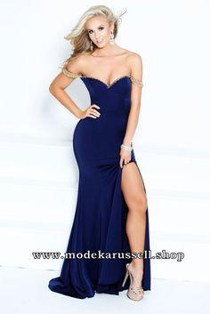 Figurbetontes Abendkleid Susi Blau