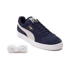 Shop for Mens Puma Suede Athletic Shoe in Navy White at Journeys Shoes.  Shop today 4ec2d661de