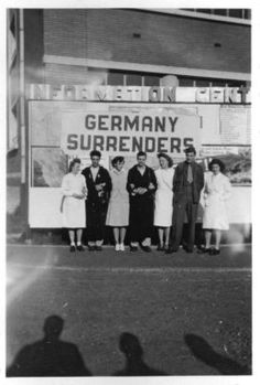 Tongres, VE Day 2,, from 25th General Hospital: Courage & Skill in World War II -- for an exhibit highlighting movements, personal     narratives and medical contributions see http://digitalprojects.libraries.uc.edu/exhibits/25thGeneralHospital/;     for entire collection see http://digproj.libraries.uc.edu:8180/luna/servlet/s/4lcgzb; connect on Facebook and     share your own WWII General Hospital stories at http://www.facebook.com/UC25thGeneralHospital.