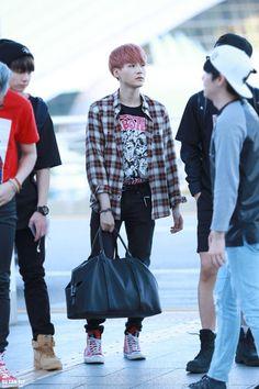 150510- BTS Min Yoongi @Incheon Airport || sxmmie*