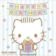 Birthday Wishes Gif, Happy Birthday Meme, Birthday Memes, Hello Kitty Imagenes, Cute App, Hello Kitty Pictures, Hello Kitty Birthday, Hello Kitty Wallpaper, Little Twin Stars