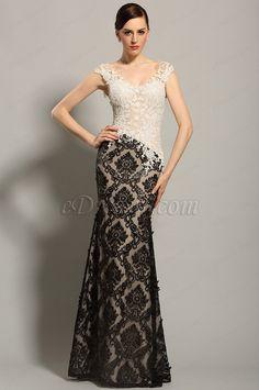 eDressit Sleeveless Lace Bodice Evening Gown Formal Dress (02153600)