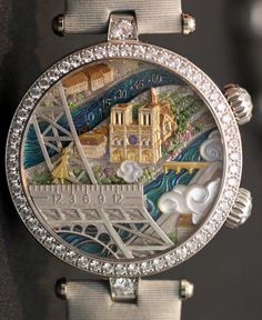 Van Cleef & Arpels Poetic Wish Watches ( nice close up of detail ) ❤️ Cool Watches, Watches For Men, Unique Watches, Woman Watches, Casual Watches, Vintage Watches, Most Beautiful Watches, Swiss Army Watches, Van Cleef Arpels
