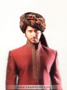 Pakistani #Wedding Sehra #Pagri #Turban exclusively made for dashing #grooms at Needlehole http://lnk.al/2Fjy