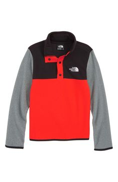 a11a81e83d80 The North Face Glacier Quarter Snap Fleece Pullover (Big Boys) | Nordstrom