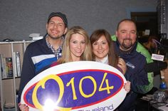 Nicole with Q104's morning crew!