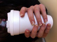 Gel French Manicure! Gel, French, Manicure, Brides, Prom www.mlwcreativedesigns.com