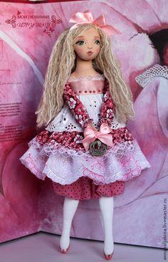 Коллекционные куклы ручной работы. Ярмарка Мастеров - ручная работа. Купить Царевна Несмеяна - авторская текстильная кукла. Handmade. Розовый