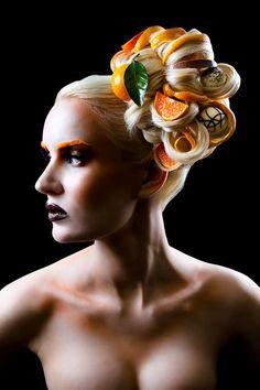 'Chocolate & Oranges' Make-up & Hair Shoot.     The Start of my 'Food Inspired' Portfolio       Photographer: Rich Hinton   Model: Alessandra Doddato   Make-up & Hair: Karla Powell