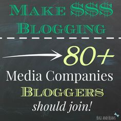 Do you often see Bloggers making money? I have put together 80+ Media Companies you should join if you want to make money!