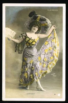 Real Photo Folies Bergere Dancer Dargent Paris 1904 Posted | eBay