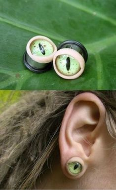 eyes for ears - super creepy @Lizzie McElweè please don't get these!!