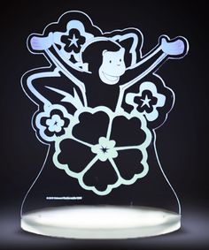 Take a look at this Curious George & Flower Color-Changing Night Light today!