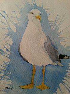 Meeuw (17x25) watercolor 09/2014