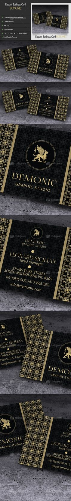 Elegant Creative Business Card – Demonic on @codegrape. More Info: http://www.codegrape.com/item/elegant-creative-business-card-%e2%80%93-demonic/9418