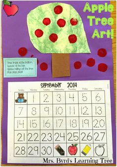 Apple Tree Art! (Mrs. Byrd's Learning Tree)