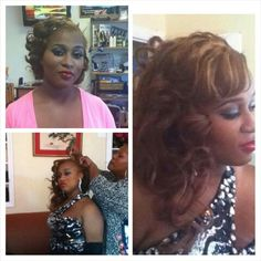 Prom styling ...natural hair & microlink weave