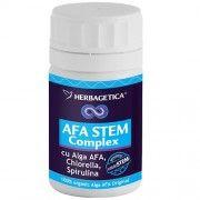 AFA Stem Complex - 30/70 capsule Stimuleaza productia de celule stem adulte, antioxidant, stimuleaza regenerarea celulelor nervoase, stimuleaza formarea elementelor figurate ale sangelui, stimuleaza sistemul imunitar, favorizeaza necroza formatiunilor tumorale, radioprotector, chemoprotector.