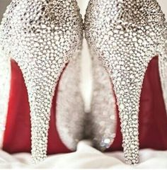 Christian Louboutin OFF!>> Christian Louboutin Wedding Shoes - visit the outlets at Brides book Crazy Shoes, Me Too Shoes, Dream Shoes, Cheap Christian Louboutin, Military Wedding, Fashion Mode, Fashion Outfits, Fashion Shoes, Coast Fashion