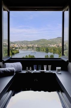 Hot tube with a view AquaPura #Hotel. Douro Valley #Portugal