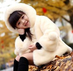 Baby New Winter Collection 2015 - Baby Girl Winter Coat, Designer Off-White Jacket, Kids Cold Weather Clothing, Toddler Warm Jacket with Hood for Parties, Weddings & Birthdays Size ( 1-10 Yrs )
