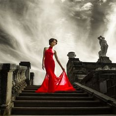 The power of the red dress.  Lovable Women's Style.